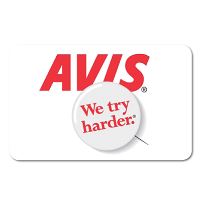 AVIS<sup>®</sup> Rental $100 Gift Card – Save on your next car rental with this Avis<sup>®</sup> $100 gift card.